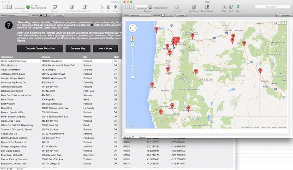 FileMakerMapping