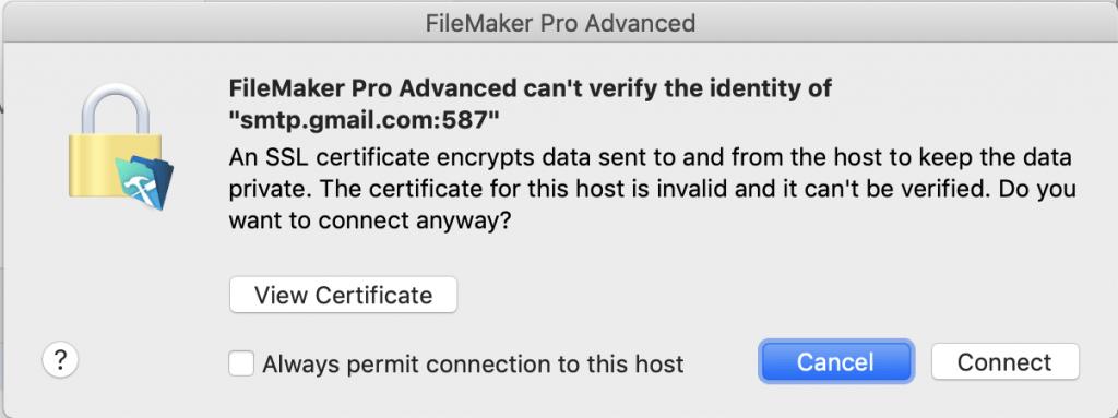 FileMaker 18 and Gmail Send Mail Bug - AppWorks
