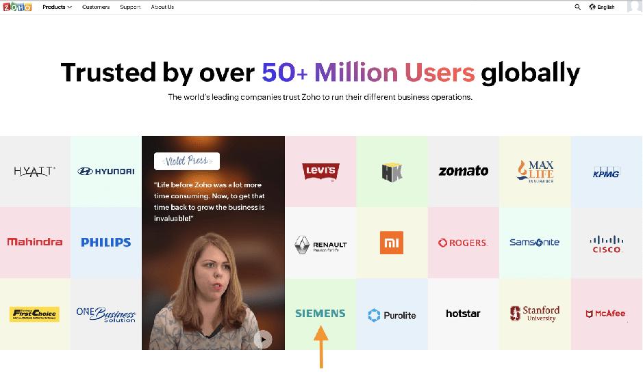 Companies using Zoho Creator